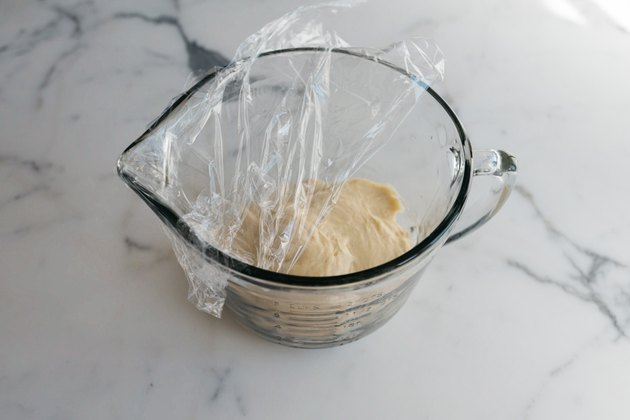 Cover the bowl and let the dough rise.