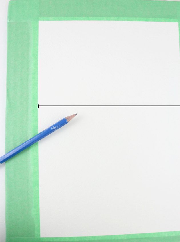 Draw a horizon line.