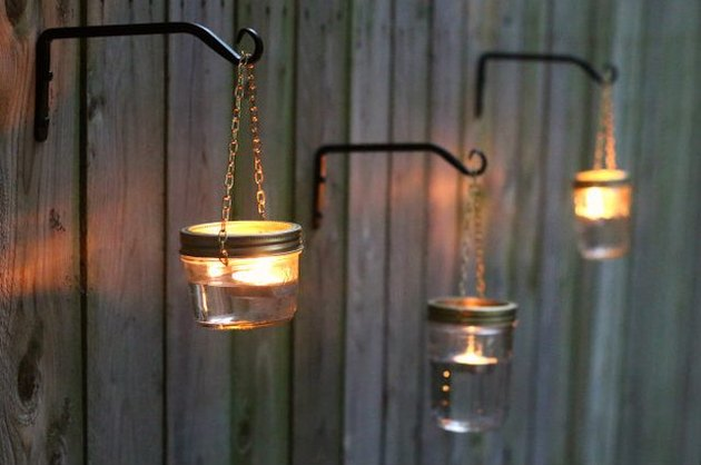 Outdoor Hanging Mason Jar Lights