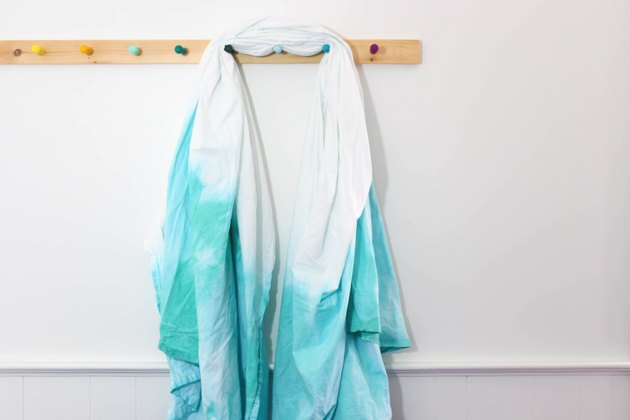 start with a dip dyed turquoise sheet