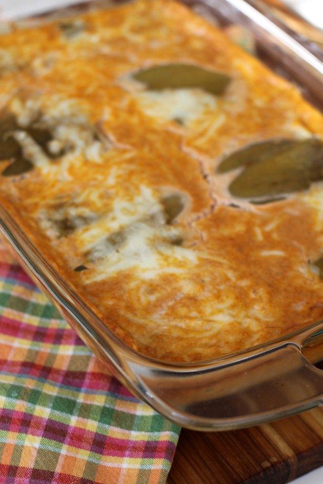Hot chile relleno casserole.