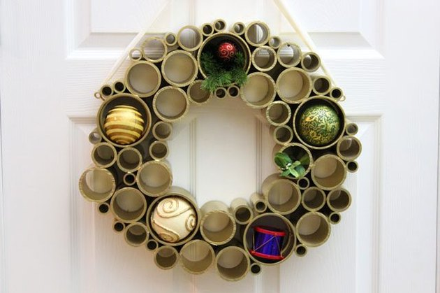 PVC pipe wreath.