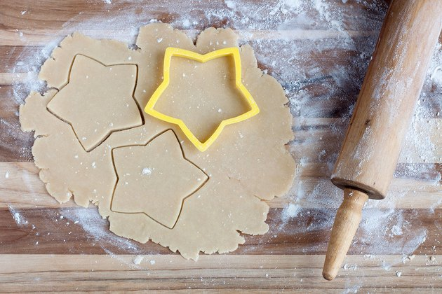 Step 1: Roll out dough and cut star shapes
