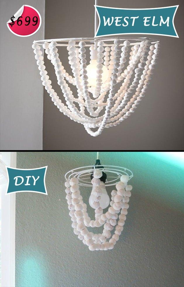 papier-mache chandelier