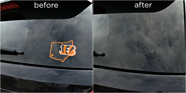 how to remove stuck on stickers from cars