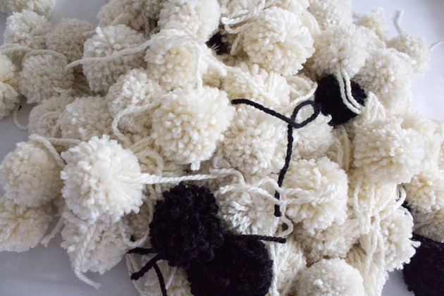 Make several pom-poms