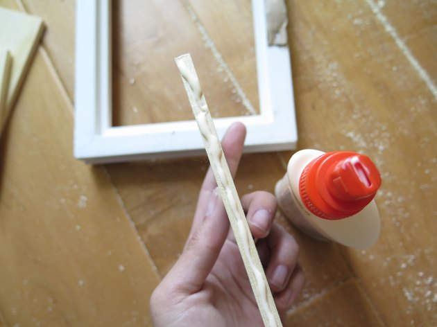 Add glue to your wood boards.