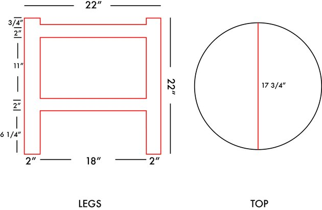 template for collapsible side table