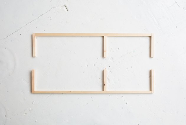 DIY Floor Mirror With Built-In Shelf