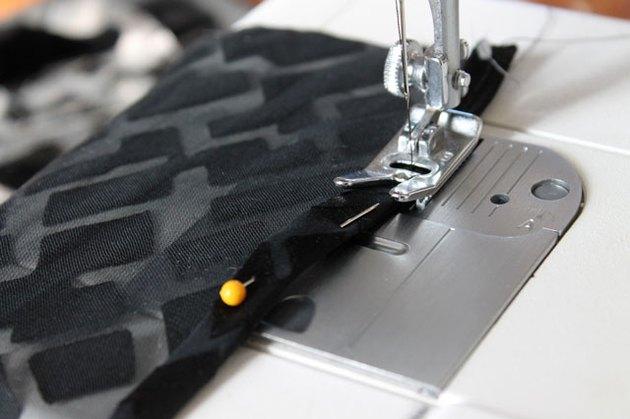 Sew the pressed edges.