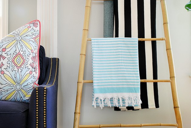 DIY Bamboo Blanket Ladder