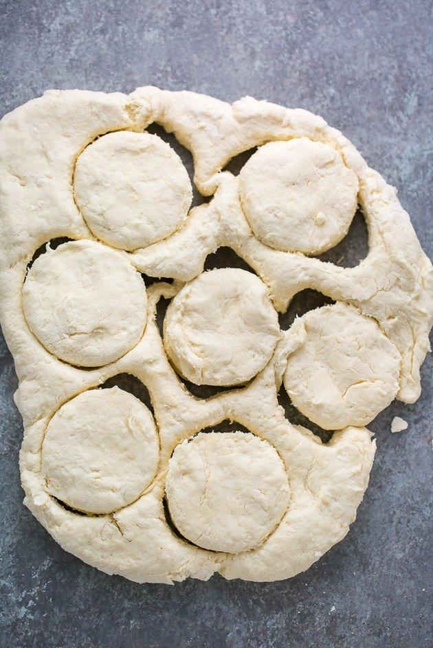 Cut dough into rounds.