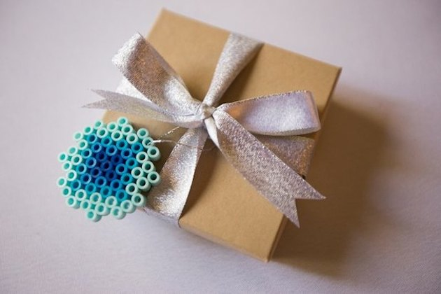 DIY fusible bead gift topper