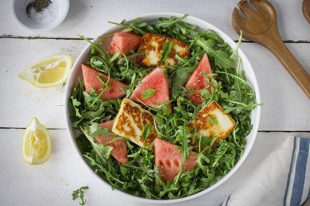 halloumi cheese in salad