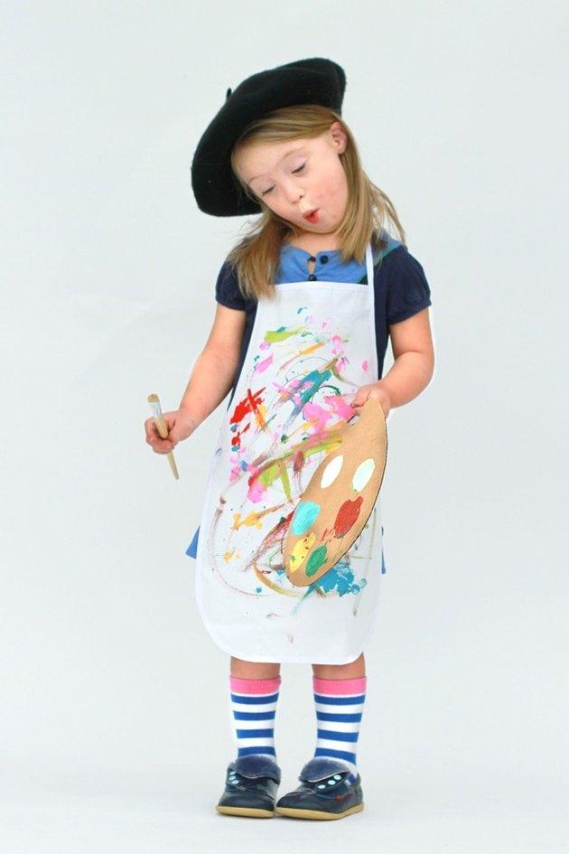 Girl in Painter Costume