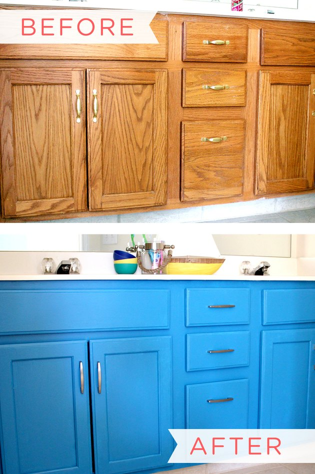 How to Paint a Bathroom Vanity Cabinet