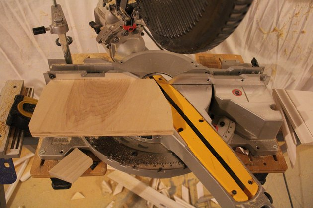 Miter Saw with Scrap Wood