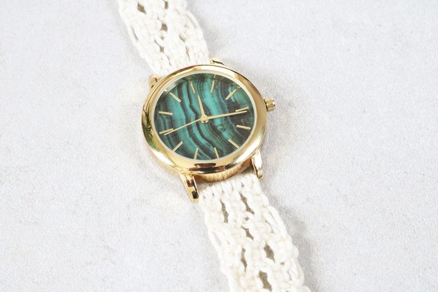 DIY macrame watch strap