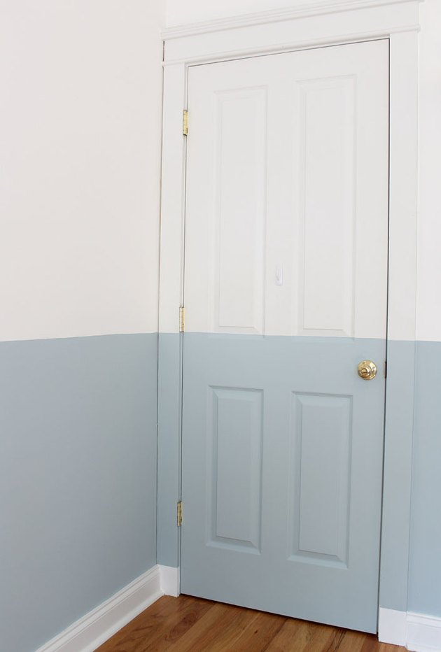 Remove the painter's tape and reattach the door knob.