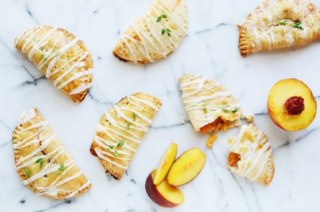 peach and thyme hand pies