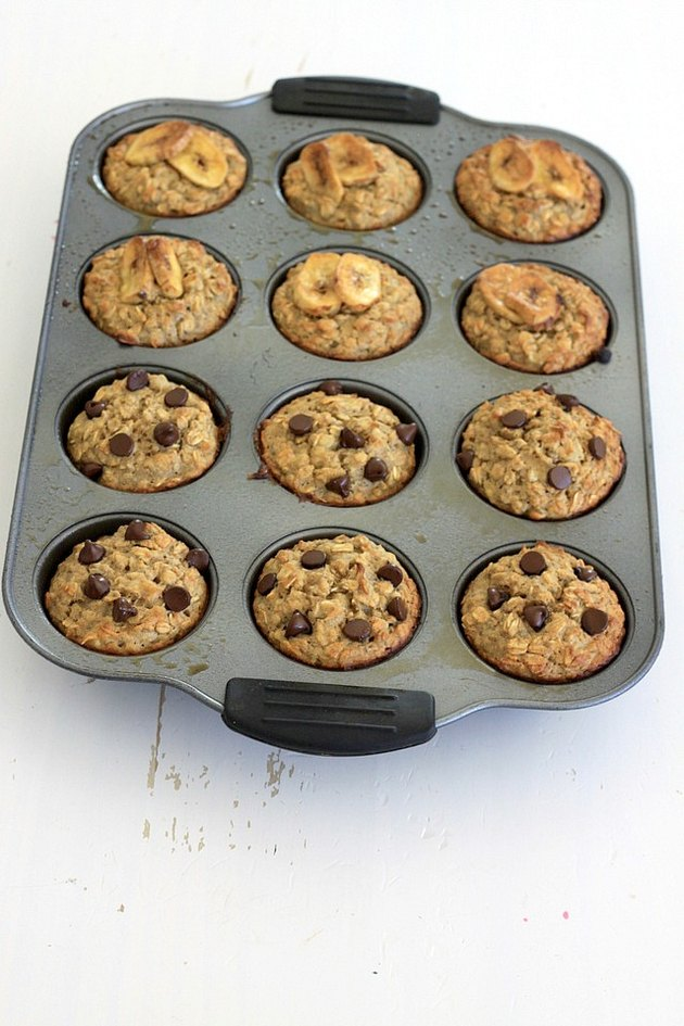 oatmeal protein muffins baked
