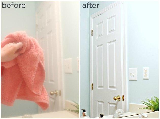 DIY mirror defogger for bathrooms