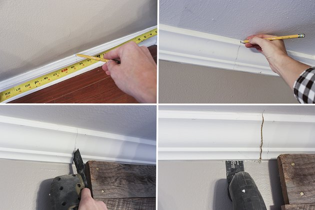 Measuring and cutting base and crown molding
