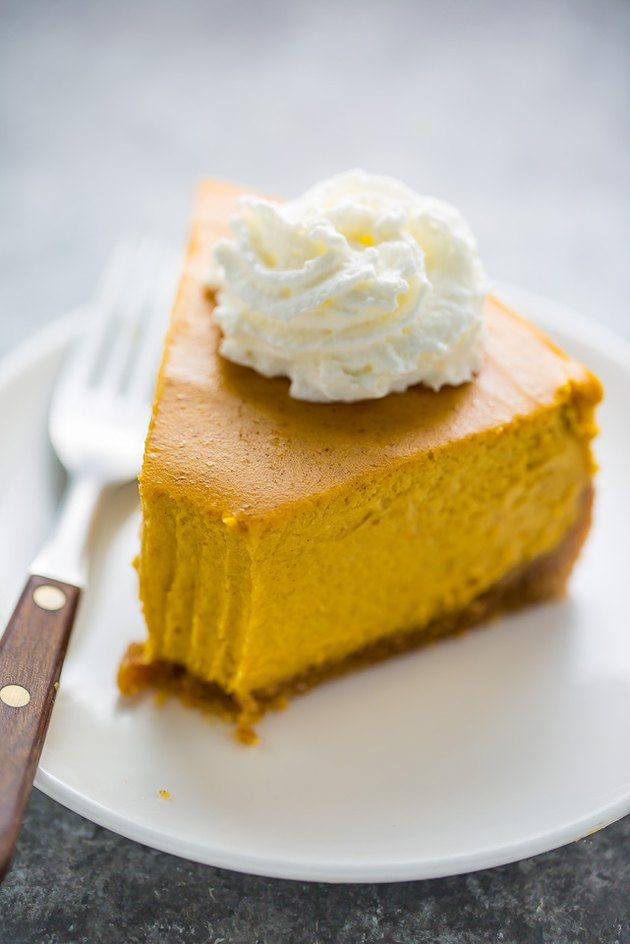 Creamy pumpkin cheesecake.