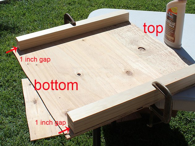 one side of the dehydrator box with support pieces