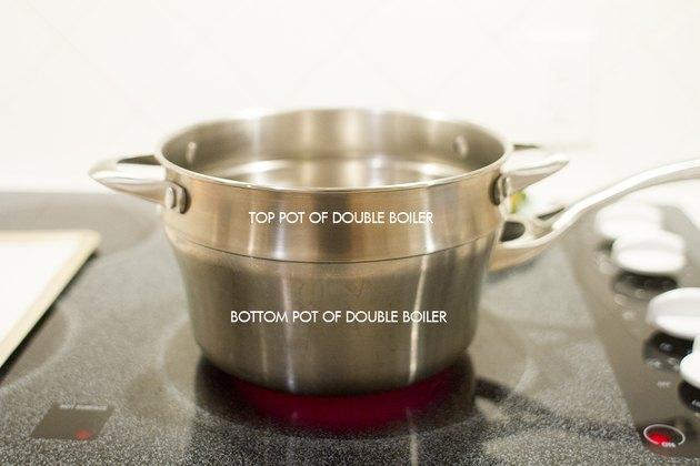 Prepare double boiler