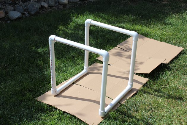 completed base for PVC pipe table
