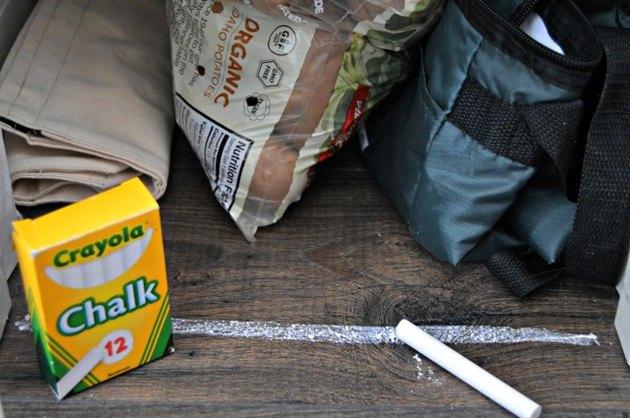 Ants will not cross a chalk line