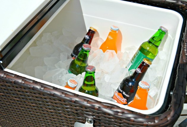 Store drinks in an outdoor cooler.
