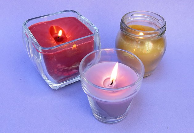How to melt old candles into new candles.
