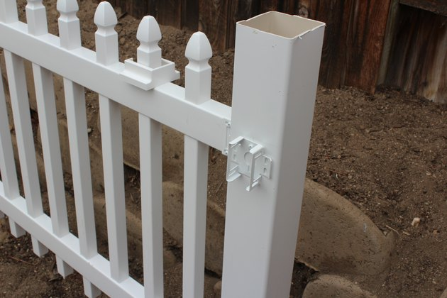 A bracket ready for fence panel.