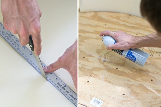 Cut and attach the foam to the top of the board.