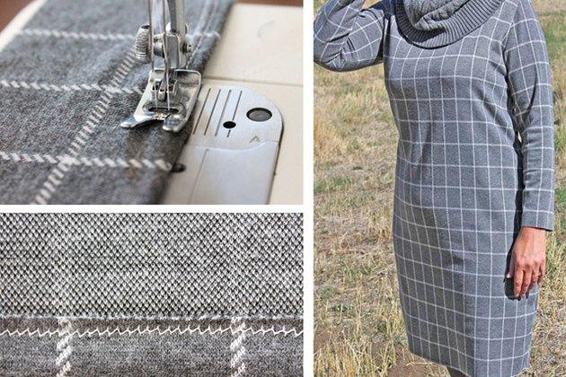 hemming knit fabric dress