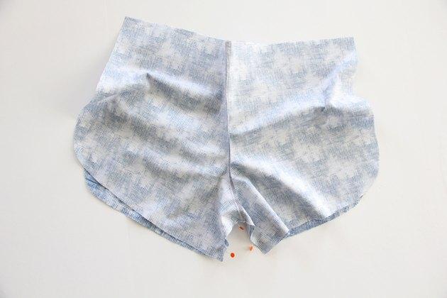 pin and sew inner leg