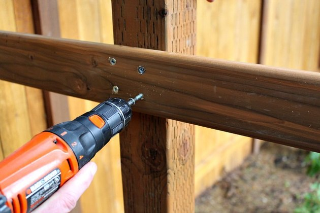 drilling screws into wood