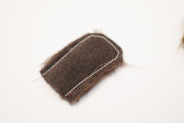 Sew the pony tail piece.