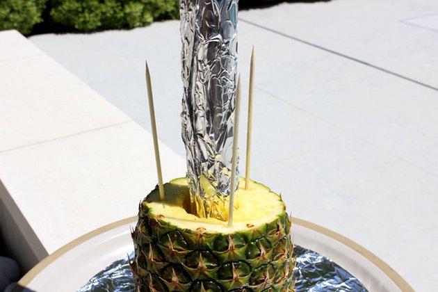skewers in pineapple