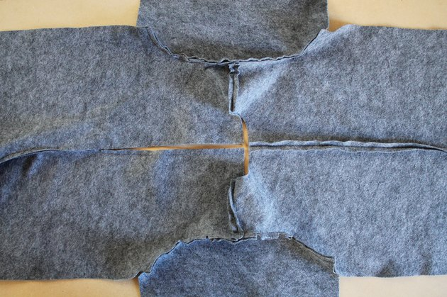 Sew the second sleeve into the opposite armhole.