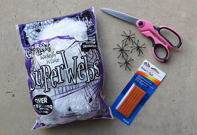 Things you'll need to decorate with fake spider webs.