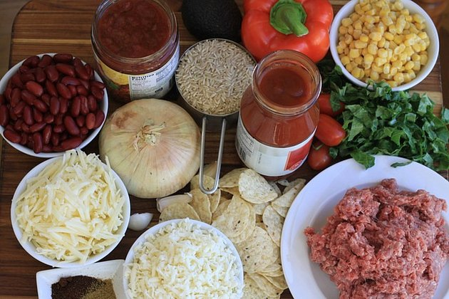 Ingredients for taco casserole