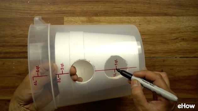 Cutting plastic container for DIY Mini USB Desktop Air Conditioner