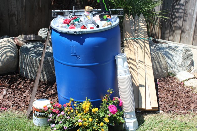 Rain barrel supplies.