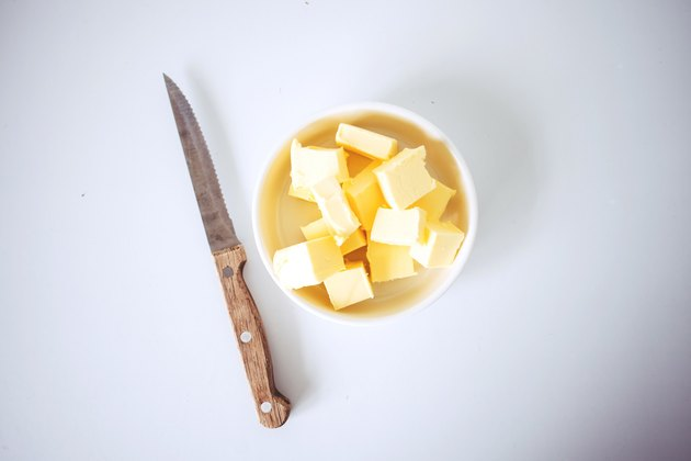 Cubes of butter.