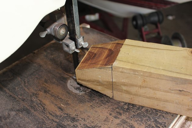 Use the band saw to cut out the last two wedges