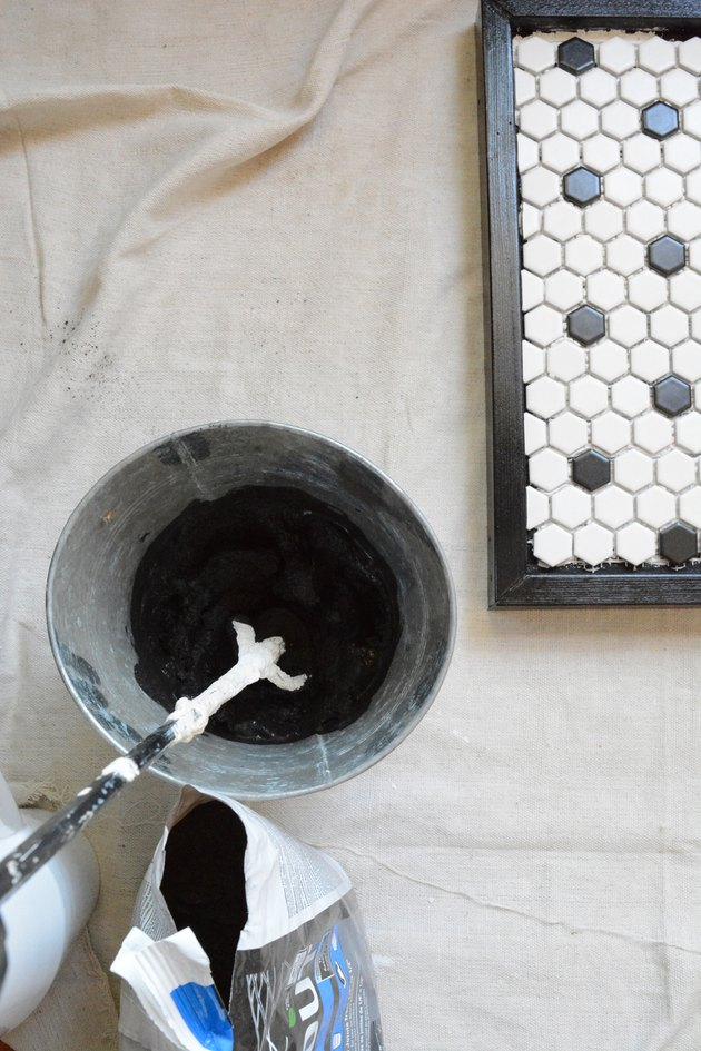 mix the grout