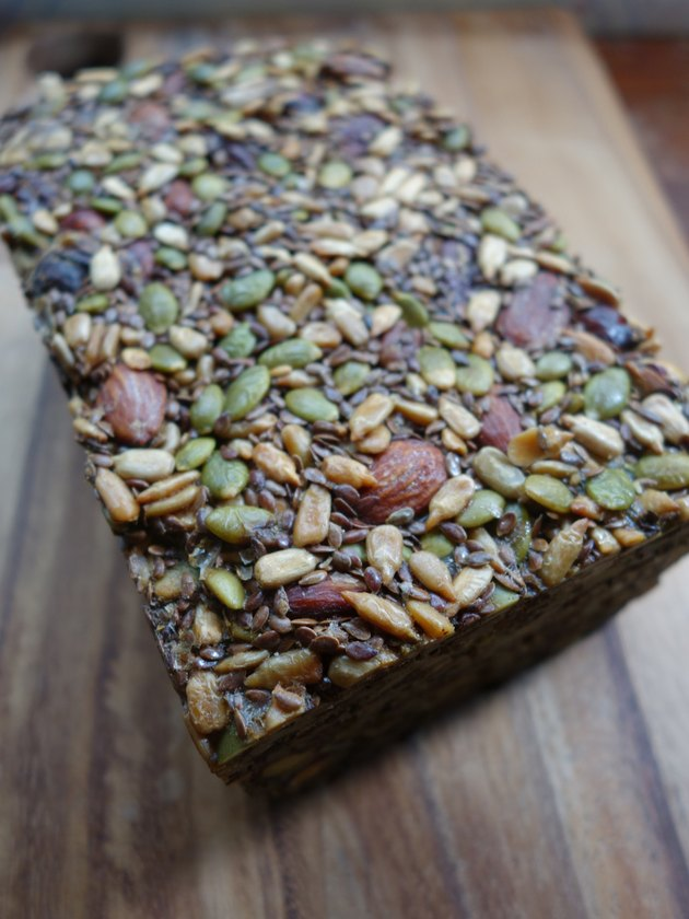 Grain free, paleo-friendly Nordic Stone Age Nut Bread.